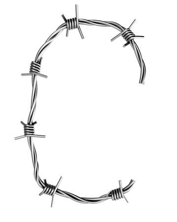 Barbed wire alphabet, C Stock Photo - 7736665
