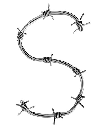 cattle wire wire: Barbed wire alphabet, S