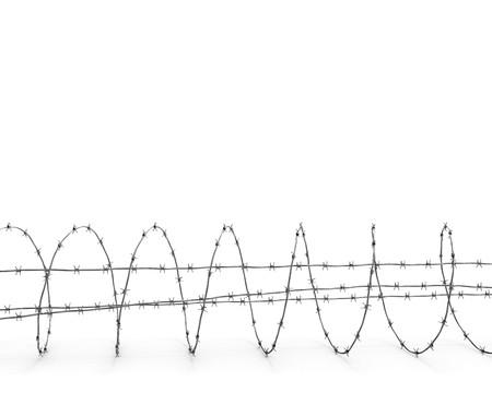 barbed wires: Vista lateral de alambre de p�as