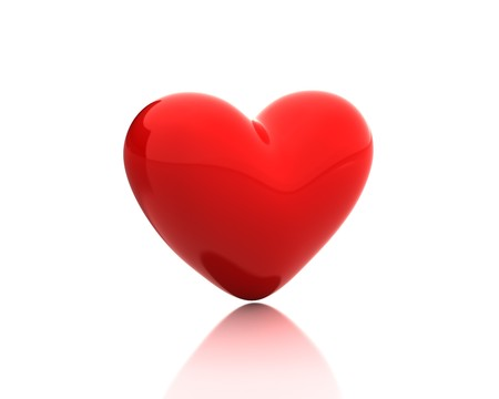 Red heart Stock Photo - 7736644