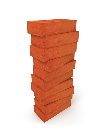 Tower of orange bricks  photo