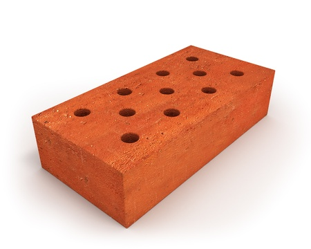 Single orange brick Stock Photo - 8239816