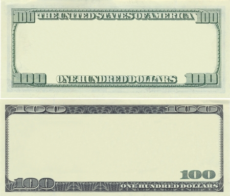 dollaro: Modello di banconota chiaro 100 dollari per scopi di progettazione