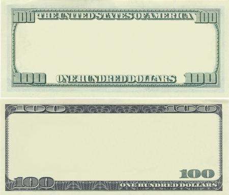 zrozumiały: Wyraźnego Banknot 100 dolara do celów projektowania