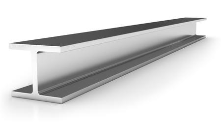 Shiny iron joist isolated on white background Stock Photo - 8993399