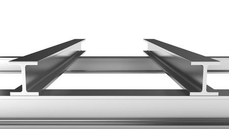 firmness: Pocas vigas de hierro aisladas sobre fondo blanco