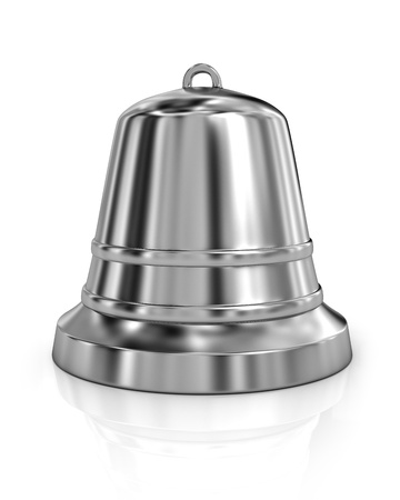 ding dong: Shiny metal bell isolated on white background