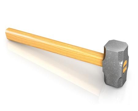 sledgehammer: Metal sledge hammer isolated on white background Stock Photo