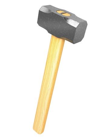 hammer head: Metal sledge hammer isolated on white background Stock Photo
