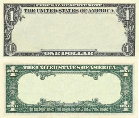 1 Dollar Banknote transparentem Zwecken design Standard-Bild