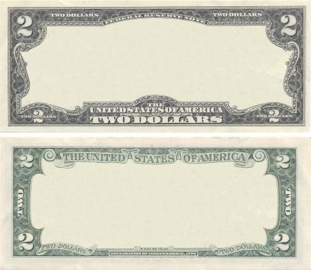 Wyczyść 2 wzór banknotów dolarów do celów projektowych