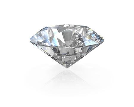 Round, old european cut diamond, isolated on white background photo