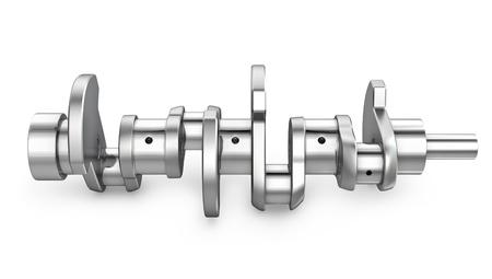 Shiny meta crankshaft, isolated on white background Stock Photo - 13928758