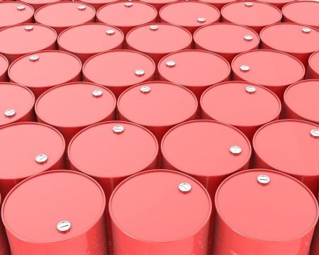 barril de petr�leo: Gran grupo de barriles rojos