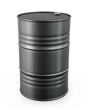 Single black barrel, isolated on white background Standard-Bild