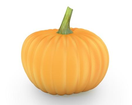 cucurbit: Orange pumpkin isolated on white background Stock Photo