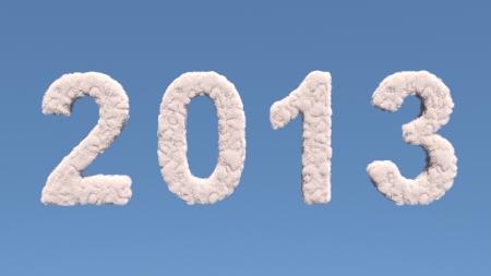 New year 2012 cloud shape, isolated on white background Stock Photo - 16294337