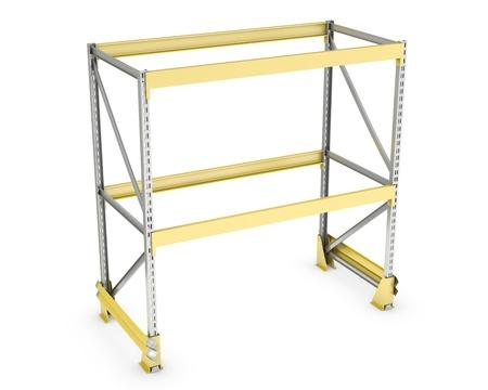 Single pallet rack, isolated on white background Standard-Bild