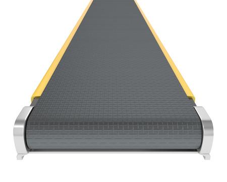 Belt conveyor isolated on white background photo