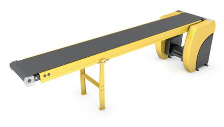 cinta transportadora: Transportador de cinta aisladas sobre fondo blanco