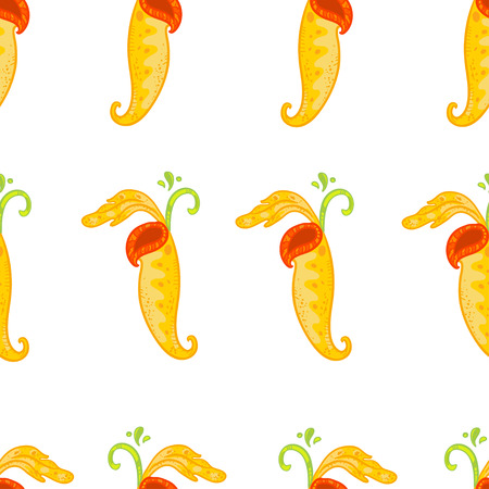 stinking: Vector seamless floral pattern with Nepenthes. Bright floral pattern on white background. Doodle nature pattern.