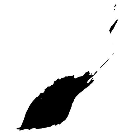 ink spot: Black ink spot on white background. abstract ink spot. Black ink simple splash on white background. Decorative ink spot.