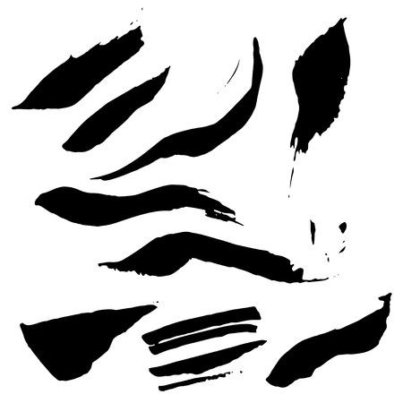 grundge: Ink spots set. Vector ink spot set. Different beautiful grundge ink spots. Spot set ink white background. Black ink spots. Illustration
