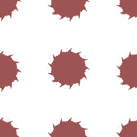 ink spot: Abstract round ink spot seamless pattern on white background. Pink spots on white background. Beautiful seamless background. Beautiful seamless ink pattern. Ink spot pattern.