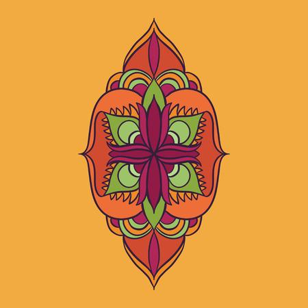 vector mandala pink and orange abstract