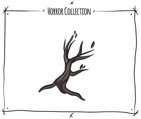 blood draw: illustration with tree on white background Illustration