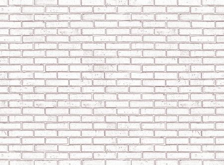White seamless brick wall Stock Photo