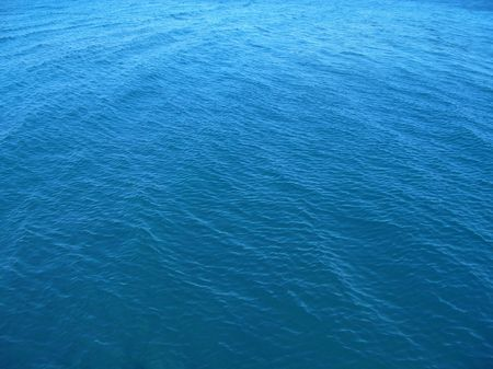 Blue water background Stock Photo
