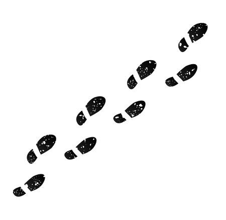 Huellas  Ilustración de vector