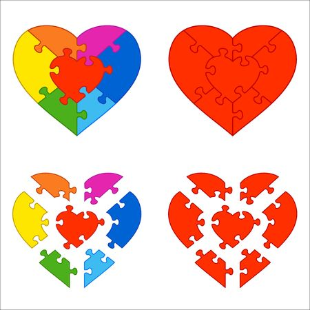 Heart puzzle photo