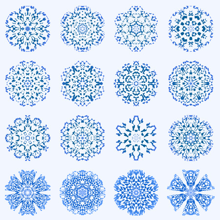 Some of my snowflakes Vector