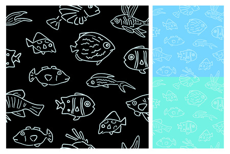 Seamless fish pattern Stock Vector - 4182417