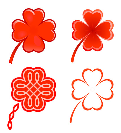 red clover: Clovers and hearts