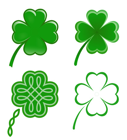 shamrocks: Lucky clovers