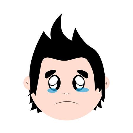 chant: Boy crying Illustration