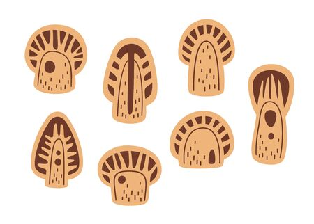 Tree vector template for laser cutting of plywood. Design for lasercut of wood jewelry, home decor or toys. 向量圖像