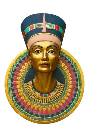 nefertiti: Face of Queen Nefertiti isolated on white