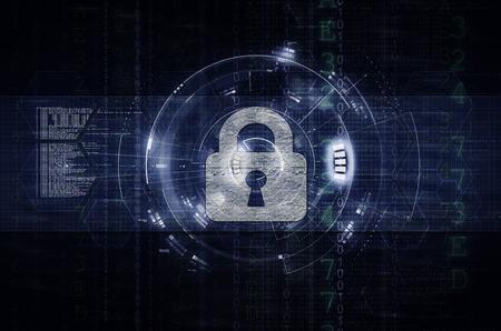 Illustration de sécurité réseau et informatique 2 sombre