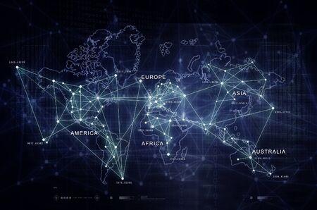 Internet of Things Digital World Map