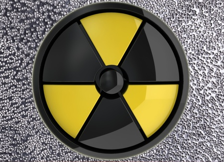 Abstract poster, warning that radiation - a global warning                     Stock Photo - 13540876
