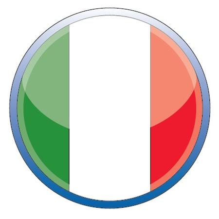 Italian glossy icon Illustration