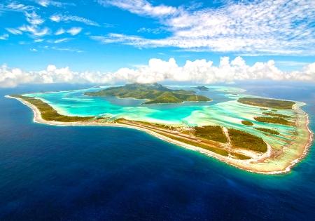 tahiti: Bora Bora island Stock Photo