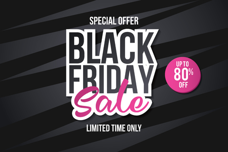 Black friday sale banner. Sale banner template design. Abstract banner. Vector illustration