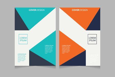 Jaarverslag, pamflet, presentatie, brochure. Voorpagina, lay-outontwerp voor boekomslag. Ontwerpsjabloon omslag. Abstract omslagontwerp.