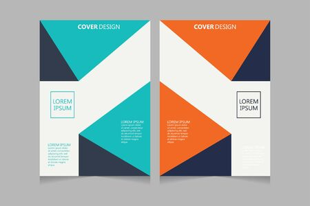 Relazione annuale, opuscolo, presentazione, brochure. Prima pagina, progettazione del layout della copertina del libro. Modello di progettazione della copertina. Disegno astratto della copertura.