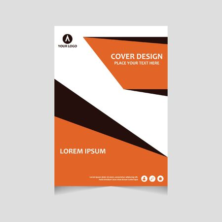 Annual report, flyer, presentation, brochure. Front page, book cover layout design. Design layout template in A4 size . Abstract blue template.
